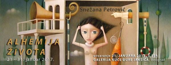 """Отварање изложбе слика и цртежа """"Алхемија живота"""" Снежане Петровић,Субота, 21.јануар 2017./ 19ч"""