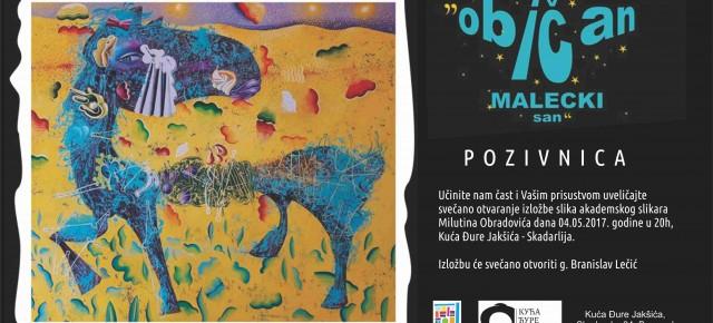 Изложба слика Милутина Обрадовића, Четвртак, 04.мај 2017./ 20ч