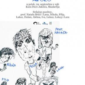 """Отварање изложбе цртежа полазника школе цртања за децу """"Аполо"""", Петак, 29.септембар 2017./19ч"""