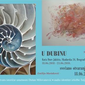 """Svečano otvaranje izložbe """"U dubinu"""" - ponedeljak, 18. jun"""