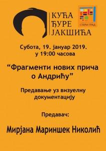 PLAKAT_Fragmenti novih prica o Andricu_K Djure Jaksica_19 01 2019