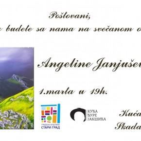 Отварање изложбе Ангелине Јањушевић